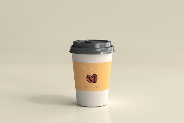 Maqueta de taza de café de papel de tamaño mediano