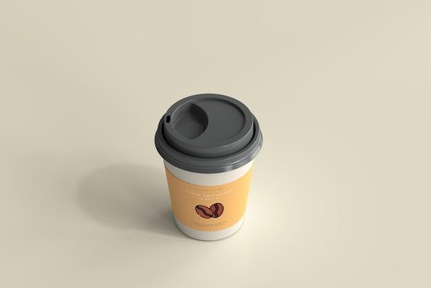 Maqueta de taza de café de papel de tamaño pequeño