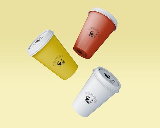 Maqueta de taza de café de papel
