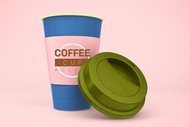 Maqueta de la taza de café.