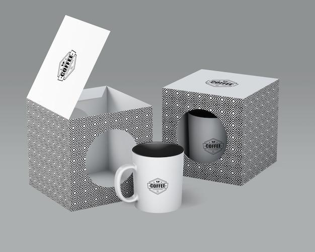 Maqueta de taza de café