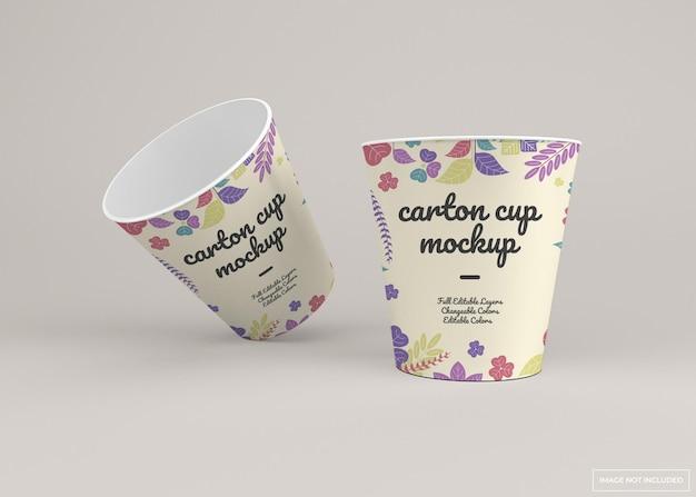 Maqueta de taza de cartón desechable para llevar
