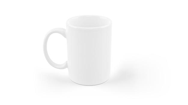 Maqueta de taza de cerámica blanca aislada