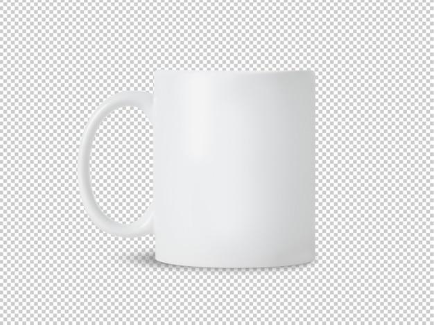 Maqueta de taza taza blanca