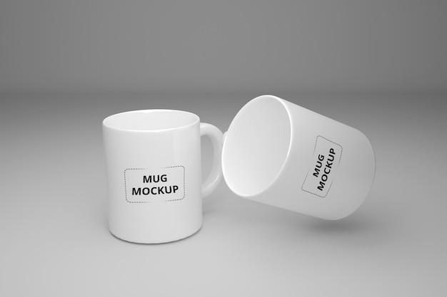 Maqueta de taza de taza de café realista psd premium