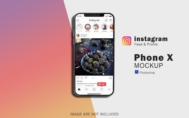 Maqueta de telefonía móvil para redes sociales