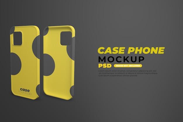 Maqueta de teléfono de caja realista