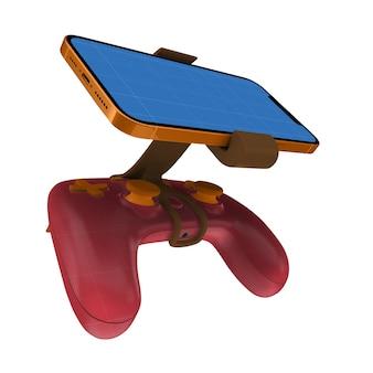 Maqueta de teléfono gamepad