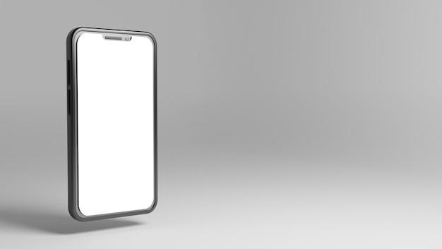 Maqueta de teléfono inteligente 3d con espacio en blanco