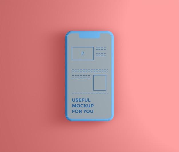 Maqueta de teléfono inteligente 3d simple