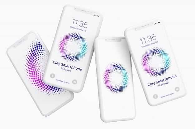 Maqueta de teléfono inteligente clay