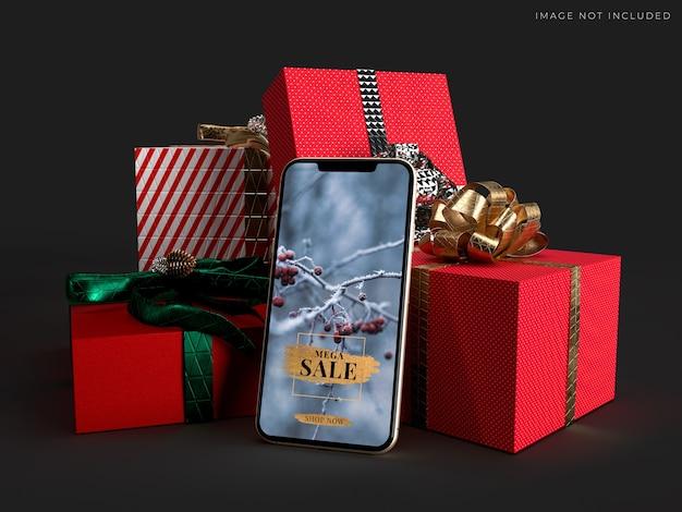 Maqueta de teléfono inteligente móvil para identidad de marca