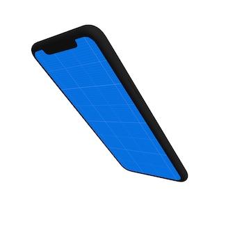 Maqueta de teléfono inteligente negro