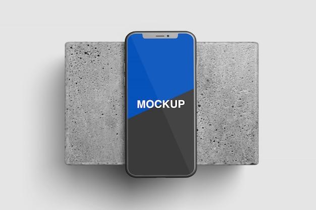 Maqueta de teléfono inteligente plano