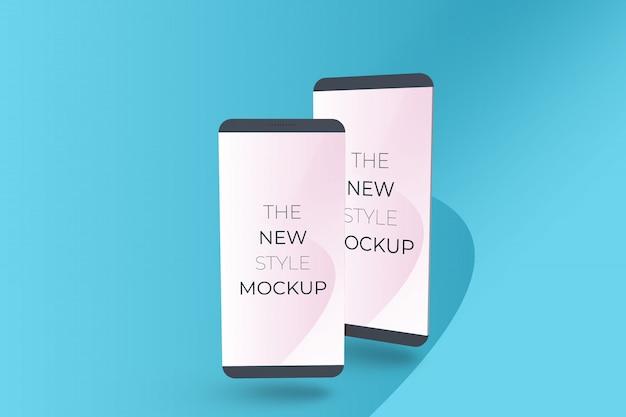 Maqueta de teléfono inteligente realista.