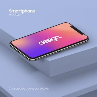 Maqueta de teléfono inteligente súper realista