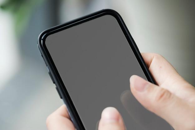 Maqueta de teléfono móvil con pantalla táctil
