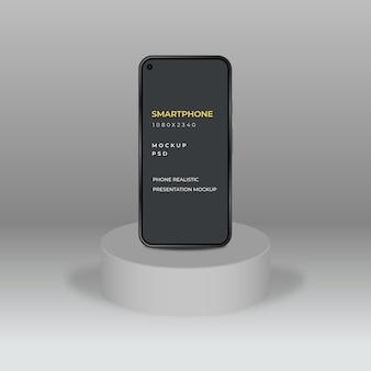 Maqueta de teléfono móvil para presentación de aplicaciones