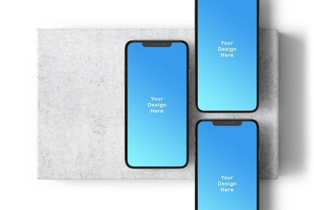 Maqueta de teléfono con pantalla
