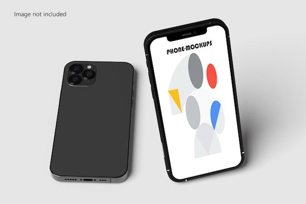 Maqueta de teléfono y pantalla