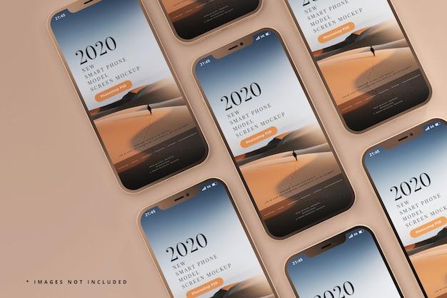 Maqueta de teléfonos inteligentes modernos
