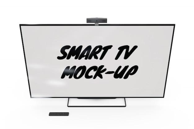 Maqueta de televisión inteligente aislada