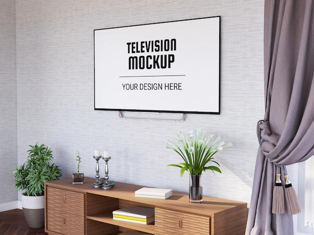 Maqueta de televisión en la sala de estar