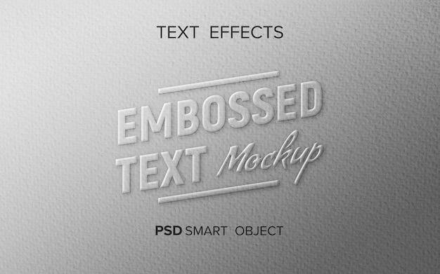 Maqueta de texto en relieve