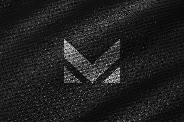 Maqueta de textura de lienzo negro realista