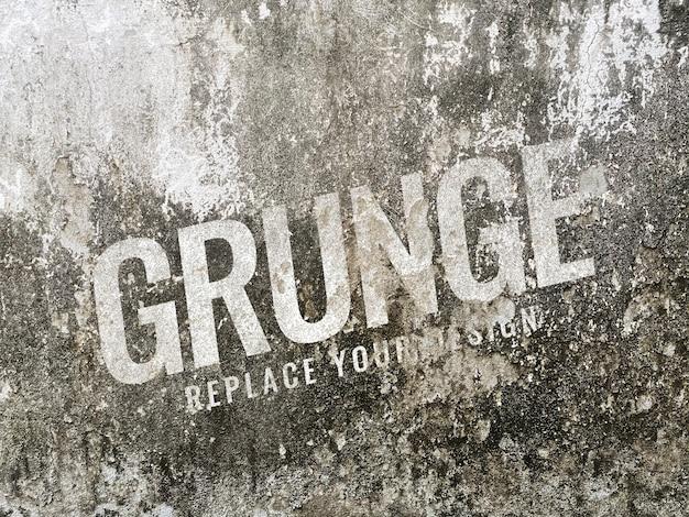 Maqueta de textura de pelado de pared de grunge