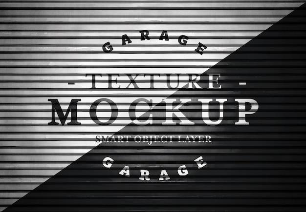 Maqueta de textura de puerta de garaje