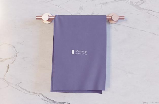 Maqueta de toalla de baño