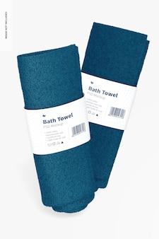 Maqueta de toallas de baño, cayendo