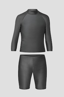 Maqueta de traje de baño rash guard