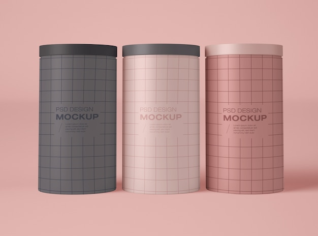 Maqueta de tres latas