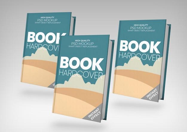 Maqueta de tres libros