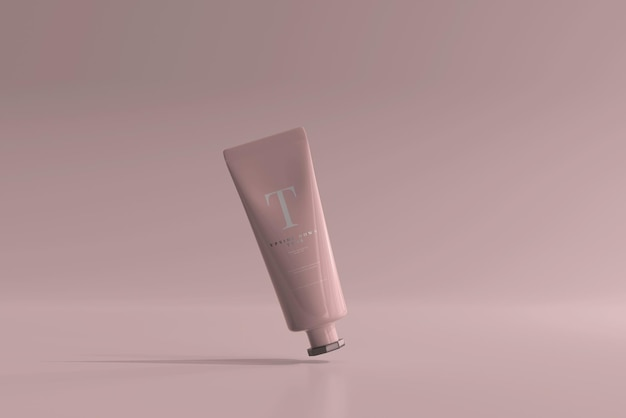 Maqueta de tubo cosmético
