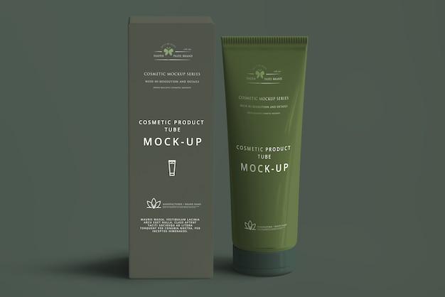 Maqueta de tubo de cosméticos