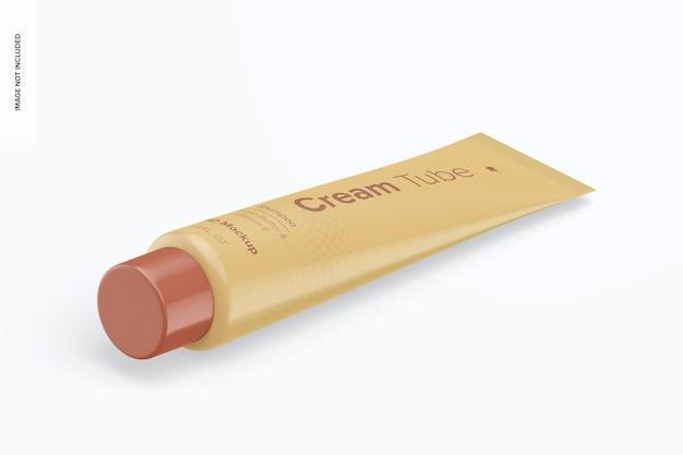 Maqueta de tubo de crema de 1.4 oz, vista isométrica izquierda