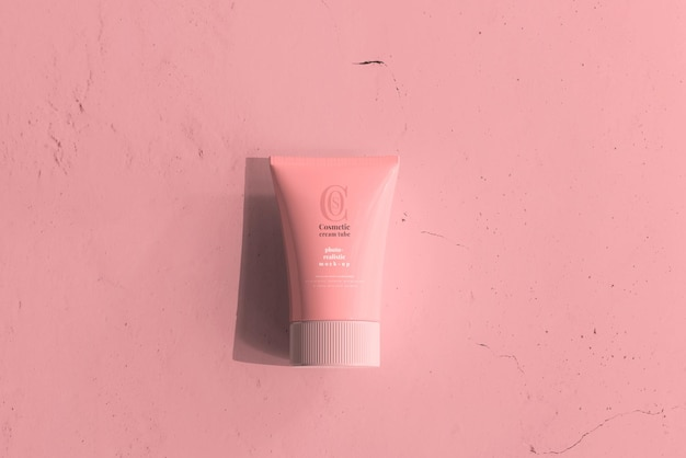 Maqueta de tubo de crema cosmética