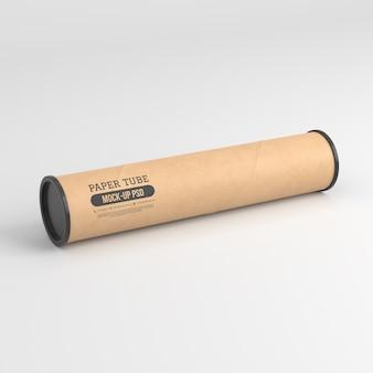 Maqueta de tubo de papel