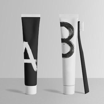 Maqueta de tubo de pasta de dientes mínima