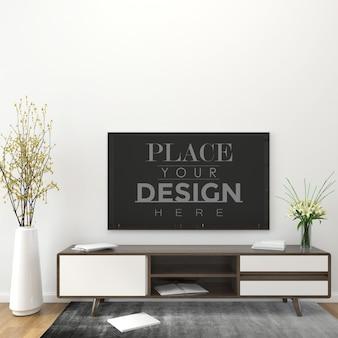 Maqueta de tv en la sala de estar