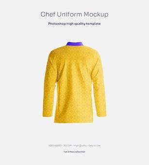 Maqueta de uniforme de chef