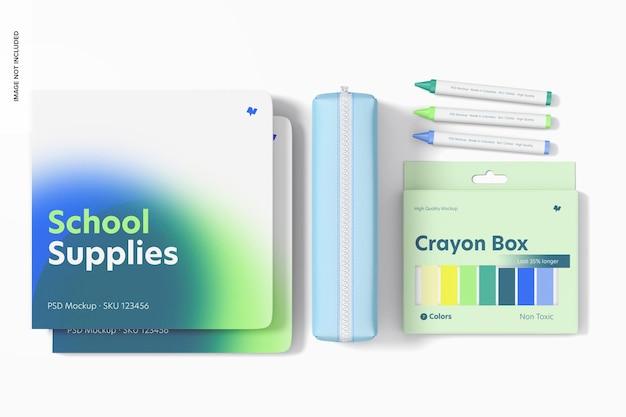 Maqueta de útiles escolares