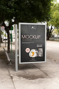 Maqueta de vallas publicitarias de miami
