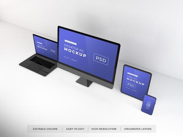 Maqueta de varios dispositivos digitales
