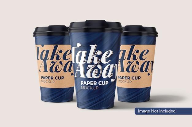 Maqueta de vaso de papel para llevar