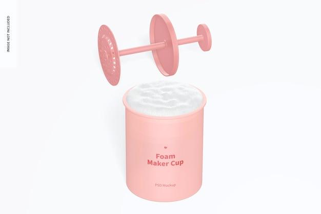 Maqueta de vasos de espuma para hacer espuma, abierta