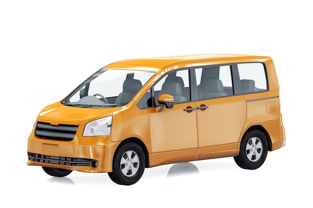 Maqueta de vehículo multiusos mpv